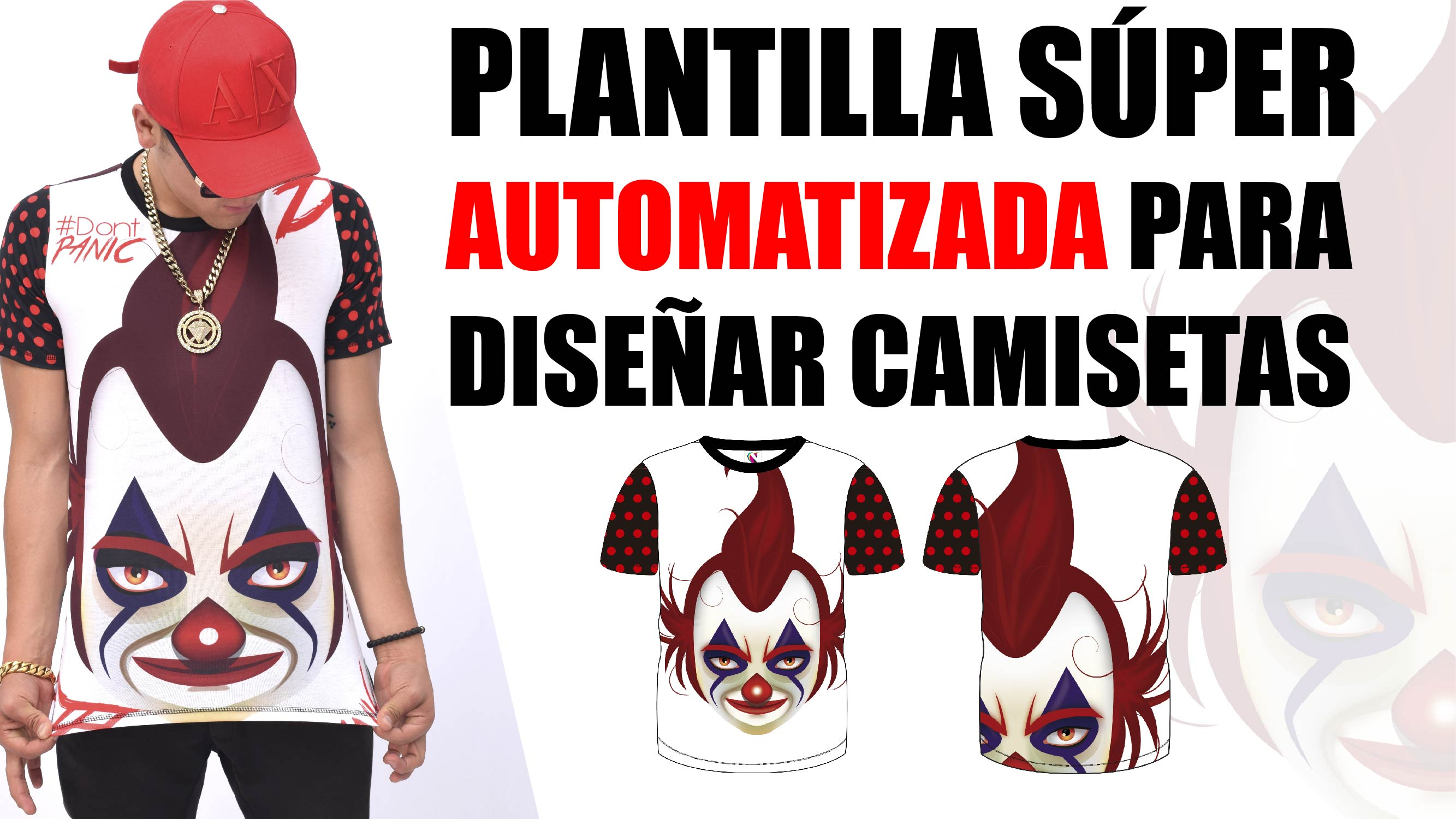 631fe2b2ba PLANTILLA SÚPER AUTOMATIZADA! para crear camisetas como un Profesional y en  Tiempo RÉCORD!